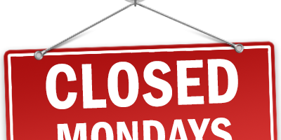 Closed on Monday Starting Oct. 9